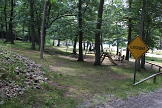 Childrens Playground at Muskegon Campground in Wolf Lake