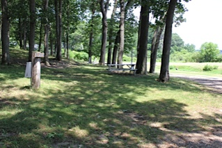 Wooded Campground in Muskegon Michigan Wolf Lake