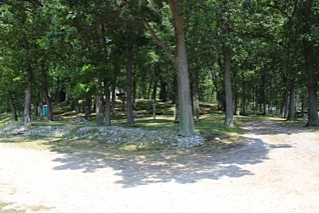 Shady Camping Sites at Wolf Lake Muskegon Michigan