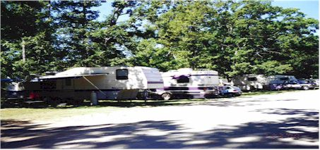 RV Parking and RV Resort in Muskegon Michigan at Wolf Lake